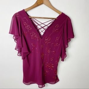 Adrianna Papell Beaded Blouse